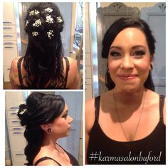 Bridal hair with baby's breath