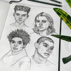 Portraits Features and Drawings Studies. To see more, larger size art and information about Tomasz Mro, click the image. Guy Drawing, Drawing People, Painting & Drawing, Pencil Drawing Images, Drawing Studies, Art Studies, Arte Sketchbook, Art Drawings Sketches, Art Inspo