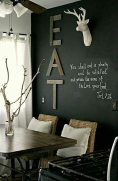 dinning room chalkboard