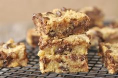 Chocolate Chip and Toffee Bars