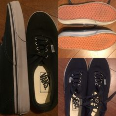 New Vans Black 7.5 (Never worn) New black vans 7.5 :) Those shoes are very versatile and comfy. I have a collection of them. This one is brand new, I never worn. My size is 6.5/7.0 so this one is way to big for me. I also trade!! The color is not a very dark black... Let's say that can be kinda navy. Vans Shoes Athletic Shoes