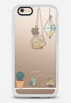 Cactus and Succulent Terrariums - Transparent iPhone 6 case by RubyRidgeStudios | @casetify