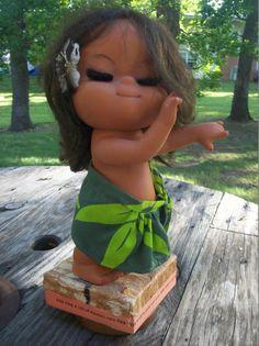 Vintage Hula doll music box by Vintagetoyfun on Etsy, $30.00