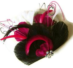 SWEETHEART Elegant Bridal Peacock Feather Hair by maggpieseye, $40.00