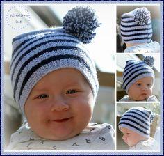 Oppskrift på strikket baby lue Bitteliten.