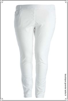 Pantalon blanc grande taille femme - Preference lingerie 305ebaadb01