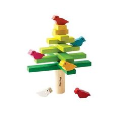 The Balancing Tree helps develop fine motor skills. The player that can stack and balance the tree and the bird without making it fall is the winner. This is a perfect gift for children.