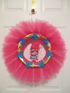 """Troll Inspired 24"""" Tulle Wreath by TouchOneHeartDesigns on Etsy"""