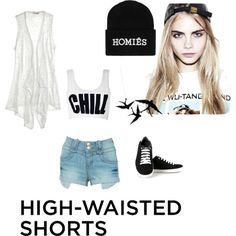 Designer Clothes, Shoes & Bags for Women High Waisted Shorts, Your Style, Shoe Bag, Polyvore, Stuff To Buy, Shopping, Collection, Tops, Design