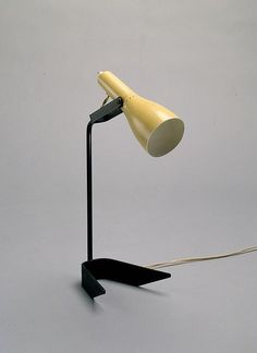 Clement Meadmore; Enameled Metal 'Calyx Table Lamp, c1953.