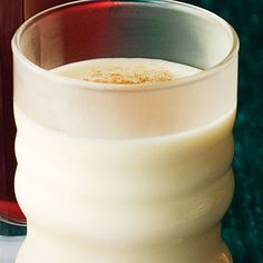 Coconut Eggnog  Add a tropical flair to eggnog at your party this year. Similar to a popular drink in the Caribbean, this recipe blends coconut milk with traditional ingredients like cinnamon, cloves, eggs, and cream.