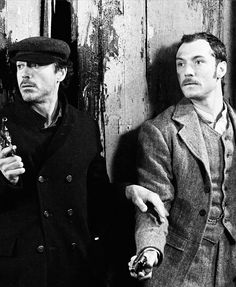 """Once more unto the breach (Robert Downey Jr. and Jude Law, """"Sherlock Holmes"""")"""