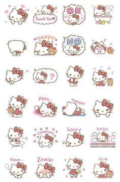 Girly Hello Kitty Animated LINE Stamp