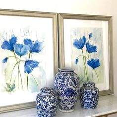 Rhythm and Blues watercolor pair - Shop Original Art Online with Free Shipping!
