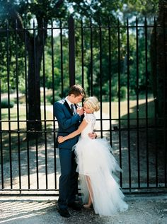 Amazing Wedding Dress with detachable skirt by Olvi's  | See more of this wedding on #SMP: http://www.stylemepretty.com/2013/12/16/south-of-france-wedding-at-chateau-dalpheran/ Wesley Nulens Photography