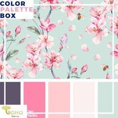 """""""Florals at Tiffany's"""", Mystery Color Palette Box."""