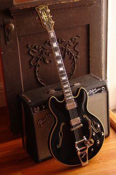 .Black & Gold Fender Guitar