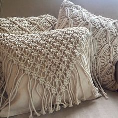 Macrame Cushion Cover - Cowgirl - www.summerhousenz.co.nz (Diy Pillows Knot)