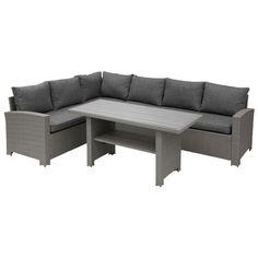 Möbelgrupp 2 delar   Tillverkad av konstrotting   AXLEY Outdoor Sectional, Sectional Sofa, Outdoor Furniture, Outdoor Decor, Home Decor, Velvet, Modular Couch, Decoration Home, Room Decor