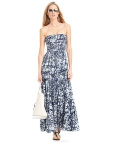 mk strapless maxi dress--great for summer without awkward tan lines