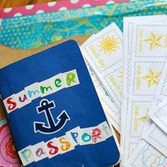 DIY Summer Passport maybe a little late for this year but next year we can do this for all the trips we go on