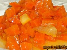 Dulceata de morcovi. Aromata cu citrice Diy Cans, Romanian Food, Preserving Food, Fruits And Vegetables, Preserves, Watermelon, Good Food, Canning, Sweet