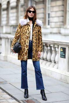 Alexa Chung at London Fashion Week 2015
