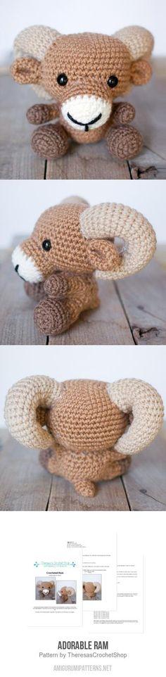 Adorable Ram Amigurumi Pattern - Crochet Ram Pattern