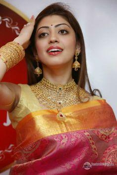 Pranitha in Pattu Saree Photos 007