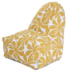 Combining modern design and classic bean bag comfort, the Majestic Home Goods Plantation Kick-It Chair makes a stylish functional addition to indoor and outdoor living areas. Durable, machine washable cover is woven from outdoor-treated polyester. Bean Bag Lounger, Bean Bag Sofa, Bean Bag Furniture, Cool Bean Bags, Kids Bookcase, Floral Print Fabric, Tropical Design, Childproofing, Mellow Yellow