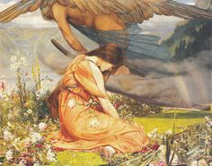 "John Dixon Batten (1860-1932) - ""The Garden of Adonis - Amoretta and Time"" (1887)"