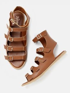 Roadster Brown Leather Solid Gladiators