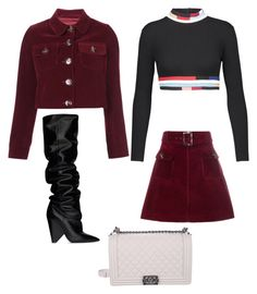 """""""Alexa"""" by fionameehan on Polyvore featuring Yves Saint Laurent, Christopher Kane and Chanel"""