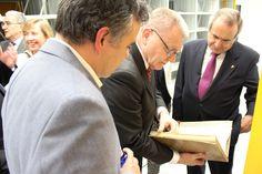 Visita del Presidente del Consejo Europeo de Investigación, Jean-Pierre Bourguignon a la Biblioteca JORGE JUAN del Centro de Física Teórica y Matemáticas (CFTMAT)