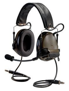 The Peltor ComTac Headset They sound amazing, they have gel pads, even a microphone jack, and they are waterproof to general outside use. The best part, they can adjust to fit many sizes, including small heads like mine, and they don't push in on your head! http://solutions.3m.com/wps/portal/3M/en_US/3M-PPE-Safety-Solutions/Personal-Protective-Equipment/Products/Product-Catalog/~/3M-Peltor-ComTac-Headsets?N=7576577+8690968+3294178044+3294529207+3293786499&rt=rud