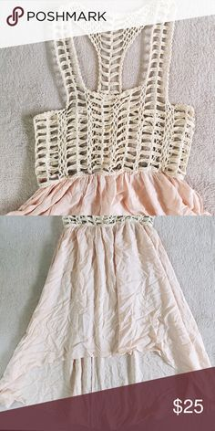 LF Millau High Low Dress Crochet top and flowwy bottoms. Perfect for upcoming warm weather!! LF MILLAU LF Dresses High Low