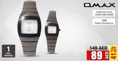 AED 89/- only for 2pcs. Omax HB0793/HB0794 Watch For Men & Women *Stock are limited! Buy NOW ➜ is.gd/s2jX1d