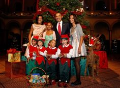 "resident Barack Obama and his beautiful family were in attendance at the 31st annual ""Christmas in Washington"" charity concert on Sunday, 12-9-2012, with Diana Ross, rapper and viral sensation PSY, singer Demi Lovato, the Naval Academy Glee Club and others."