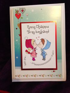 Merry Christmas Boyfriend Card using SWALK by Crafters Companion and Hunkydory cardstock