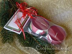 Christmas Gift Baggie with Jumbo Tea Lights