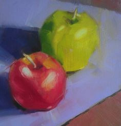 Daily Painting 13/31. Apple oversaturation. Yum. AWMartin. SOLD
