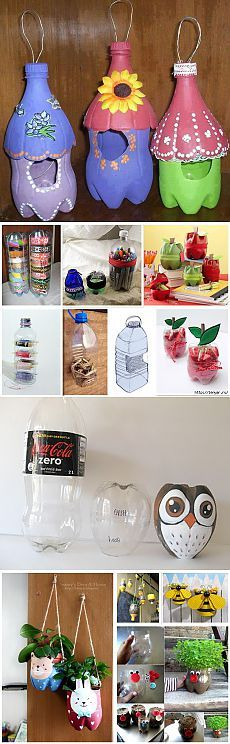 Полезные вещички из пластиковых бутылок.