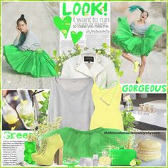 """""""#102 The Meaning of Lime Green (26.03.13)"""" by theblondemacaroon ❤ liked on Polyvore"""