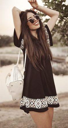 black ethno-dress