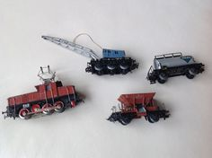 Märklin H0 - Electric locomotive E 6302 with crane wagon, tanker wagon and…