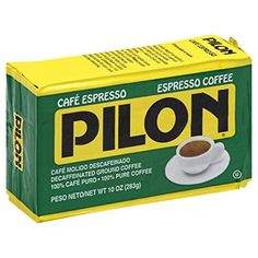 Pilon Decaffeinated Espresso Coffee, 10 Ounce (Pack of 12)
