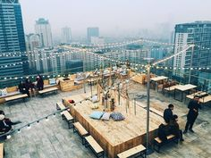 Trill Rooftop Cafe Hanoi Vietnam (Top View)