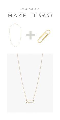 DIY Gold Paperclip Necklace Tutorial