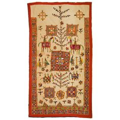 Quilt with Tree of Life (India, 20th C.), Gujarat (cotton, silk, mirrors)