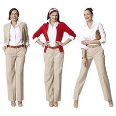 How to Wear: White Blouse with Khaki Pants